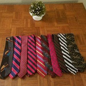 Bundle of 10 Men's Ties Preppy Plus